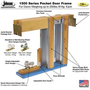 Bon Pocket Door Frame #1530 Kit: 2x4 Wall